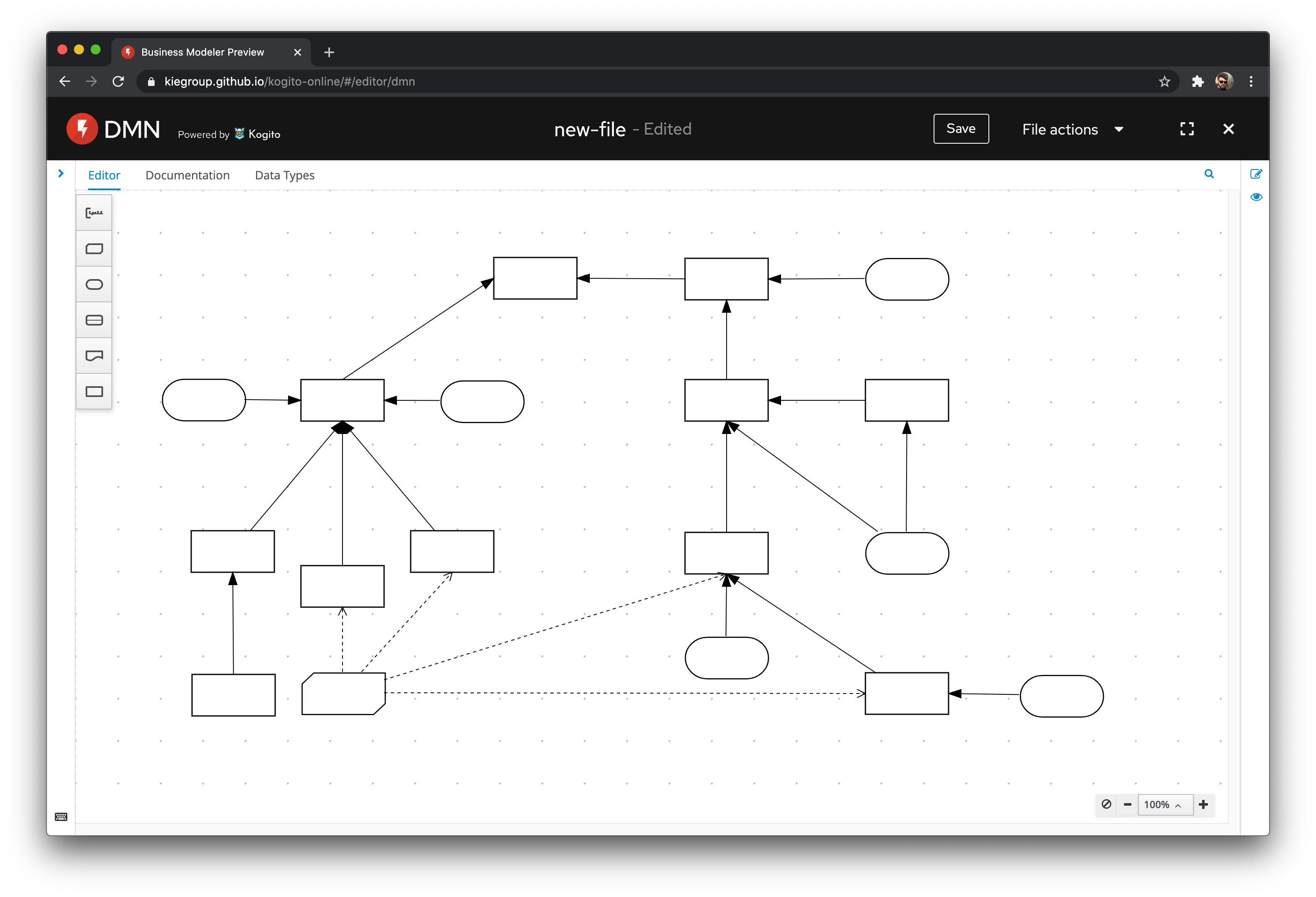 Complex diagram screenshot