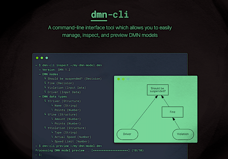 The DMN-cli is finally available - post image